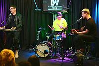 BALA CYNWYD, PA - APRIL 20 :  alt-j visit Radio 104.5 performance studio in Bala Cynwyd, Pa on April 20, 2017  photo credit Star Shooter / MediaPunch