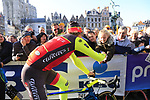 Filippo Pozzato (ITA) Wilier Triestina-Sella Italia team with fans at sign on before the 101st edition of the Tour of Flanders 2017 running 261km from Antwerp to Oudenaarde, Flanders, Belgium. 26th March 2017.<br /> Picture: Eoin Clarke | Cyclefile<br /> <br /> <br /> All photos usage must carry mandatory copyright credit (&copy; Cyclefile | Eoin Clarke)