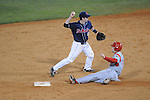 Ole Miss' Austin Anderson (8) forces out Western Kentucky's Matt Bracken (20) at Oxford-University Stadium in Oxford, Miss. on Wednesday, March 9, 2010.