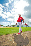 22 February 2013: Washington Nationals' infielder Anthony Rendon walks back to the dugout in his socks after taking sliding drills during a full squad Spring Training workout at Space Coast Stadium in Viera, Florida. Mandatory Credit: Ed Wolfstein Photo *** RAW File Available ***