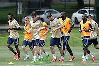 Prior to playing Manchester City in a friendly game at Busch Stadium, home of the St Louis Cardinals baseball team, Chelsea held a closed practice at Robert R Hermann Stadium on the campus of Saint Louis University.Chelsea players training