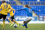 St Johnstone v Livingston.....30.11.13     Scottish Cup<br /> Stevie May scores to make it 1-0<br /> Picture by Graeme Hart.<br /> Copyright Perthshire Picture Agency<br /> Tel: 01738 623350  Mobile: 07990 594431