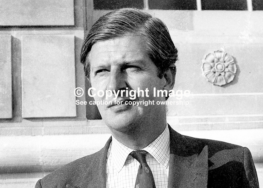 James Stronge, Ulster Unionist member of N Ireland Assembly. Murdered by IRA along with his father, Sir Norman Stronge in 1981. Sir Norman was a former speaker of the old N Ireland Parliament at Stormont. N Ireland Troubles. Assasination victim. Ref: 197307117<br />