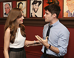 Laura Osnes and Corey Cott attends the Laura Osnes Sardi's Portrait Unveiling at Sardi's on May 12, 2017 in New York City.