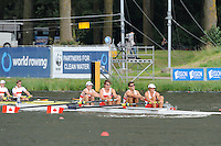 Amsterdam, NETHERLANDS,CAN BM4-,  2011 FISA U23 World Rowing Championships, Wednesday, 20/07/2011 [Mandatory credit:  Intersport Images].