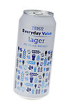 Can of Tesco Everyday Value Lager - March 2013