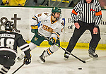 29 December 2014: University of Vermont Catamount Forward Travis Blanleil, a Freshman from Kelowna, British Columbia on the offensive in the third period against the Providence College Friars in the deciding game of the annual TD Bank-Sheraton Catamount Cup Tournament at Gutterson Fieldhouse in Burlington, Vermont. The Friars shut out the Catamounts 3-0 to win the 2014 Cup. Mandatory Credit: Ed Wolfstein Photo *** RAW (NEF) Image File Available ***