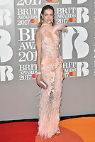 Natalia Vodianova<br /> The Brit Awards at the o2 Arena, Greenwich, London, England on February 22, 2017.<br /> CAP/PL<br /> &copy;Phil Loftus/Capital Pictures /MediaPunch ***NORTH AND SOUTH AMERICAS ONLY***