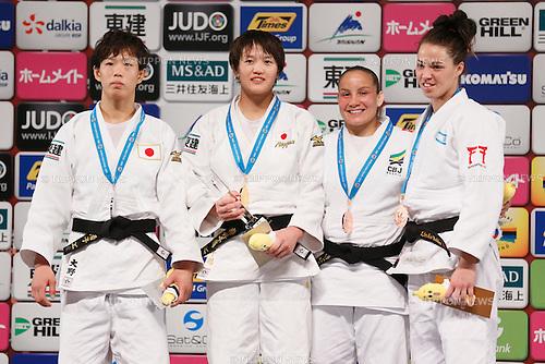 (L-R) Yoko Ono, Chizuru Arai (JPN), Maria Portela (BRA), Linda Bolder (ISR), DECEMBER 5, 2015 - Judo : IJF Grand Slam Tokyo 2015 International Judo Tournament Women's -70kg Award Ceremony at Tokyo Metropolitan Gymnasium, Tokyo, Japan. (Photo by Sho Tamura/AFLO SPORT)