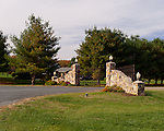 The ornate front gate at Horton Vineyards.