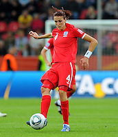Jill Scott of team England during the FIFA Women's World Cup at the FIFA Stadium in Dresden, Germany on July 1st, 2011.