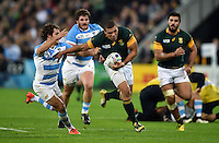 Bryan Habana of South Africa goes on the attack. Rugby World Cup Bronze Final between South Africa and Argentina on October 30, 2015 at The Stadium, Queen Elizabeth Olympic Park in London, England. Photo by: Patrick Khachfe / Onside Images