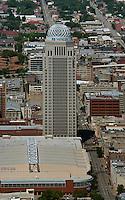 aerial photograph AEGON Center, downtown Louisville, Kentucky