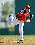 7 March 2011: Washington Nationals' pitcher Ryan Mattheus in action during a Spring Training game against the Houston Astros at Space Coast Stadium in Viera, Florida. The Nationals defeated the Astros 14-9 in Grapefruit League action. Mandatory Credit: Ed Wolfstein Photo