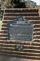 """The home of Francisco Sanchez. . . Alcalde of San Francisco and Commandante of Militia Under the Mexican Republic, Grantee of the 8.926 acre Rancho San Pedro, and later a respected American citizen."""