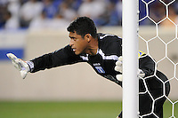 Honduras  goalkeeper Noel Valladares (18). The men's national teams of Colombia (COL) defeated Honduras (HON) 2-0 during an international friendly at Red Bull Arena in Harrison, NJ, on September 03, 2011.