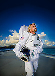 Richard Branson photographed on  his private Island, Necker Island, BVI for a Time Magazine story about Virgin Galactic space flights