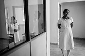 Mathumita, the Sri Lankan midwife, is seen at the health centre in Tharmapuram in North Kilinochchi, Sri Lanka. Photo: Sanjit Das/Panos