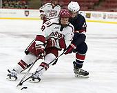 Jake Horton (Harvard - 19), Randy Hernandez (NTDP - 20) - The Harvard University Crimson defeated the US National Team Development Program's Under-18 team 5-2 on Saturday, October 8, 2016, at the Bright-Landry Hockey Center in Boston, Massachusetts.