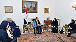 Egyptian President Abdel Fattah al-Sisi, meets with family of the martyr Ahmed Salah Eddin Malik, in Cairo, Egypt, on April 19, 2017. Photo by Egyptian President Office