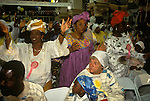 Yoruba people from western Nigeria. Harvest Festival The Celestial Church of Christ South London. UK
