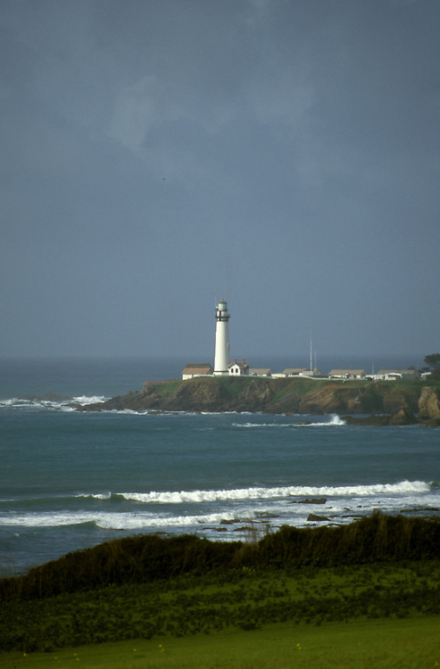 CA: Pigeon Point, California, lighthouse 2005 .Image: capigeon115.Photo Copyright: Lee Foster, lee@fostertravel.com, www.fostertravel.com, (510) 549-2202..