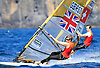 Portugal, Funchal, Madeira : Sills Sam competes on February 24, in 2012 European Windsurfing Championships in the bay of Funchal on the Portuguese archipelago of Madeira.Photo Gregorio Cunha .Campeonato da Europa de windsuf, classe RSX, na baia da cidade do Funchal,  Iha da Madeira, Portugal..Foto Gregorio Cunha