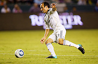LA Galaxy midfielder Landon Donovan taps the ball in past DC United goalkeeper Troy Perkins after a DC blunder in front of the goal. The LA Galaxy defeated DC United 2-1at Home Depot Center stadium in Carson, California on Saturday September 18, 2010.