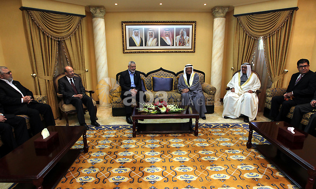 Palestinian prime minister, Ismail Haniya meets with officials Bahrains in the Bahraini capital of Manama , on Feb. 05, 2012 Photo by Mohammed Al-Ostaz