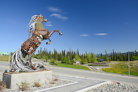 The Whitehorse Horse overlooks Two Mile Hill.