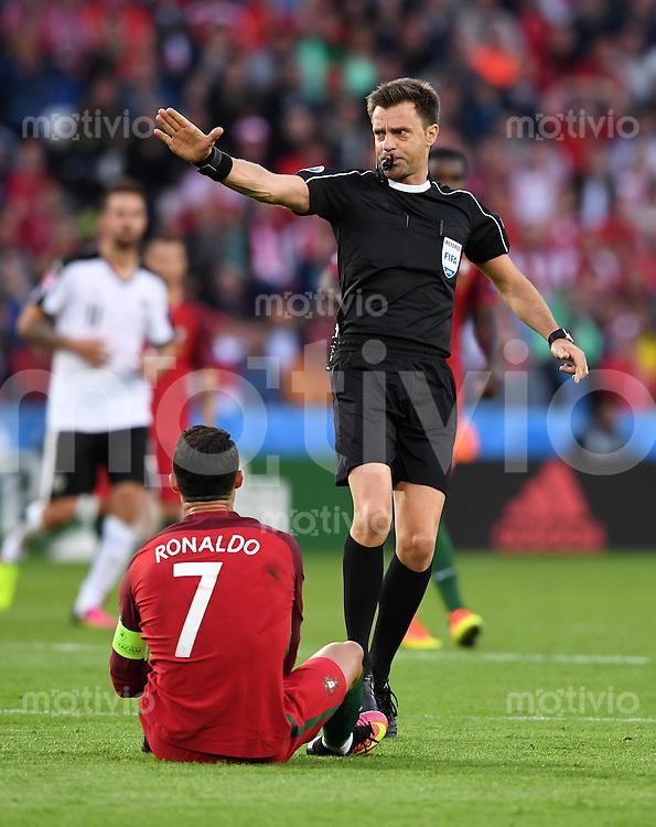 FUSSBALL EURO 2016 GRUPPE F IN PARIS Portugal - Oesterreich      18.06.2016 Schiedsrichter Nicola Rizzoli