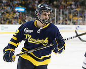 Brandon Brodhag (Merrimack - 12) - The Merrimack College Warriors defeated the University of New Hampshire Wildcats 4-1 (EN) in their Hockey East Semi-Final on Friday, March 18, 2011, at TD Garden in Boston, Massachusetts.
