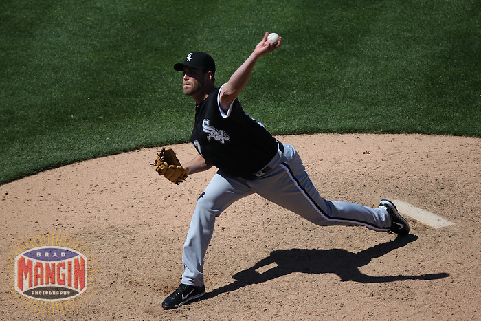 OAKLAND, CA - MAY 15:  Matt Thornton #37 of the Chicago White Sox pitches against the Oakland Athletics during the game at the Oakland-Alameda County Coliseum on May 15, 2011 in Oakland, California. Photo by Brad Mangin