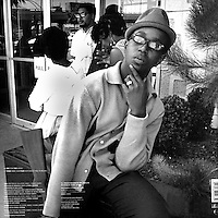 ALBUM Back COVER:Black Panther Bobby Hutton on the back cover of Primal  Scream single 'Star'produced by Brendan Lynch &amp; Primal Scream. Creaton Records LTD. London.<br />