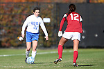 24 November 2013: Duke's Christina Gibbons (31) and Arkansas' Claire Kelley (12). The University of Arkansas Razorbacks played the Duke University Blue Devils at Koskinen Stadium in Durham, NC in a 2013 NCAA Division I Women's Soccer Tournament Third Round match. Duke advanced by winning the penalty kick shootout 5-3 after the game ended in a 2-2 tie after overtime.