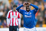St Johnstone v Kilmarnock.....09.11.13     SPFL<br /> Nigel Hasselbaink celebrates his goal<br /> Picture by Graeme Hart.<br /> Copyright Perthshire Picture Agency<br /> Tel: 01738 623350  Mobile: 07990 594431