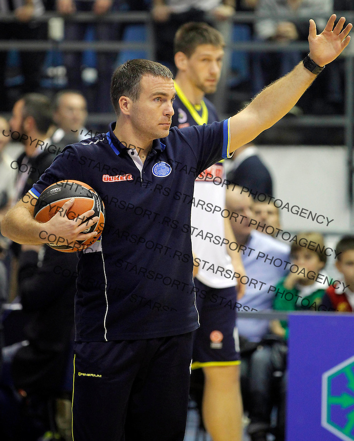 Kosarka Euroleague season 2013-2014<br /> Euroleague<br /> Partizan v Fenebahce Ulker<br /> Predrag Bata Zimonjic kondicioni trener<br /> Beograd, 08.11.2013.<br /> foto: Srdjan Stevanovic/Starsportphoto &copy;