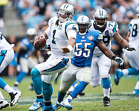 Charlotte, NC. - Sunday, September 14, 2014: The Carolina Panthers defeat the Detroit Lions 24-7 in an NFL game at Bank of America Stadium.