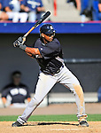 12 March 2011: New York Yankees' infielder Eduardo Nunez in action during a Spring Training game against the Washington Nationals at Space Coast Stadium in Viera, Florida. The Nationals edged out the Yankees 6-5 in Grapefruit League action. Mandatory Credit: Ed Wolfstein Photo