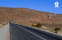 Road between Ouarzazate and Dades Gorges (Licence this image exclusively with Getty: http://www.gettyimages.com/detail/95489978 )