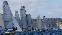ENGLAND, Falmouth, Restronguet Sailing Club, 9th September 2009, International 14 Prince of Wales Cup Week, POW Cup Race, Start.
