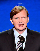 Jim Messina, Campaign Manager, Obama for America, makes remarks at the 2012 Democratic National Convention in Charlotte, North Carolina on Thursday, September 6, 2012.  .Credit: Ron Sachs / CNP.(RESTRICTION: NO New York or New Jersey Newspapers or newspapers within a 75 mile radius of New York City)