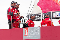 CHINA, Sanya. 4th February 2012. Volvo Ocean Race. Leg 3 Arrivals. CAMPER with Emirates Team New Zealand.