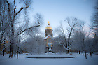 Main Quad in winter..Photo by Matt Cashore/University of Notre Dame