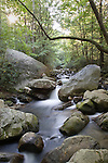 The Middle Saluda River flows over rocks at Jones Gap State Park.