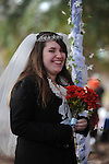 Hannah Fye participates in a wedding scene during the Oxford High School Medieval Faire at Oxford High School in Oxford, Miss. on Wednesday, November 14, 2012.