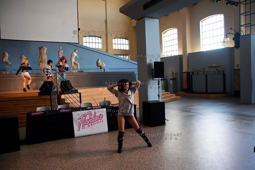 Roma 29 Marzo 2011.Centrale Montemartini.Presentato Flashdance il Musical, lo spettacolo tratto dal film culto degli anni  80..