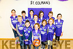 The Launch of St. Colman's a new Basketball Club at the Milltown Community Centre on Tuesday. Pictured Sinead Galvin, Brian Hurley, Nicole Kukla, Gace Cooper, Joe Horan, Aaron Denham, Emma Casey, Eva Horan, Cillian O'Neil, Niamh Denham, Alice Casey, Oran O'Neill