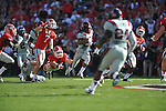 Ole Miss wide receiver Korvic Neat (28) runs against Georgia free safety Connor Norman (11) at Sanford Stadium in Athens, Ga. on Saturday, November 3, 2012.