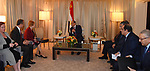 Egypt's President Abdel Fattah al-Sisi attends a meeting, in Washington, United States on April 5, 2017. Photo by Egyptian President Office
